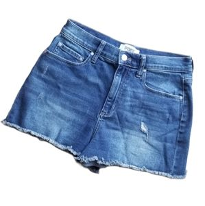 VS Pink High-Waisted Jean Cut-off Shorts 10